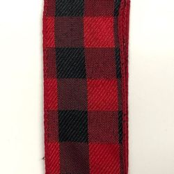 Black/Red Buffalo Check 1.5