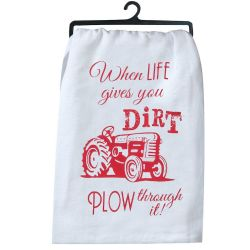 KT Life Gives You Dirt Tea Towel