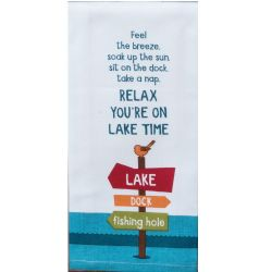 KT Relax You're On Lake Time Tea Towel