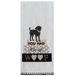 KT You Had Me At Woof Tea Towel