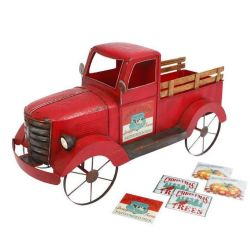 Red Metal Truck