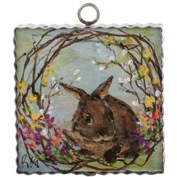 Mini Bunny Wreath Print