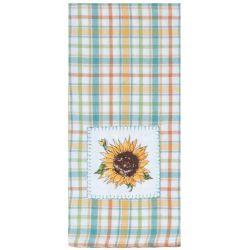 Sunflower Appliqué Tea Towel