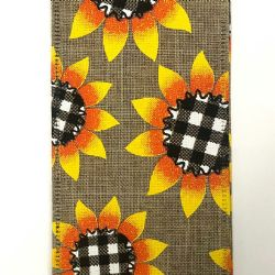 Sunflower W/ Buffalo Plaid 2.5