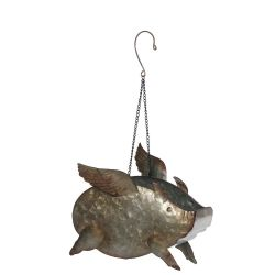 Galvanized Flying Pig (Small)