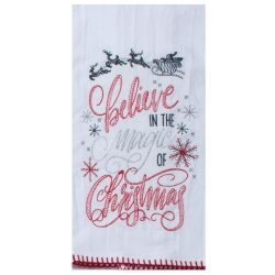 Twigs Believe in the Magic of Christmas Tea Towel