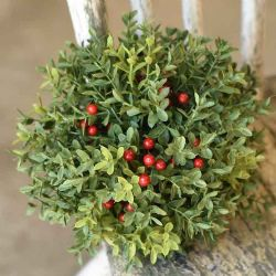 Half Sphere New England Boxwood W/ Berries 8