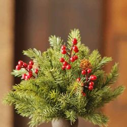 Half Sphere White Spruce W/ Berries 8