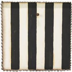 Black and White Striped Mini Gallery Display