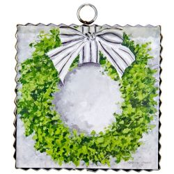 Mini Boxwood Wreath Print