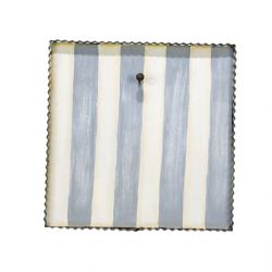 Display Gray And White Striped Mini Gallery Display Board