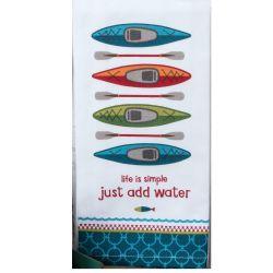 add water tea towel