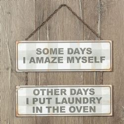 amaze myself metal sign