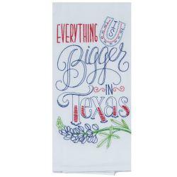 bigger in texas tea towel