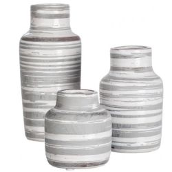 Striped Bottle Vase Set/3