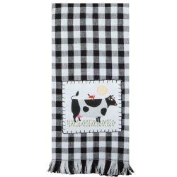 cow tea towel