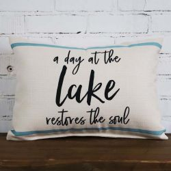 Pillow-A Day At The Lake Restores The Soul