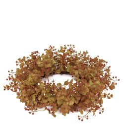 Candle Ring Rustic Eucalyptus 6.5