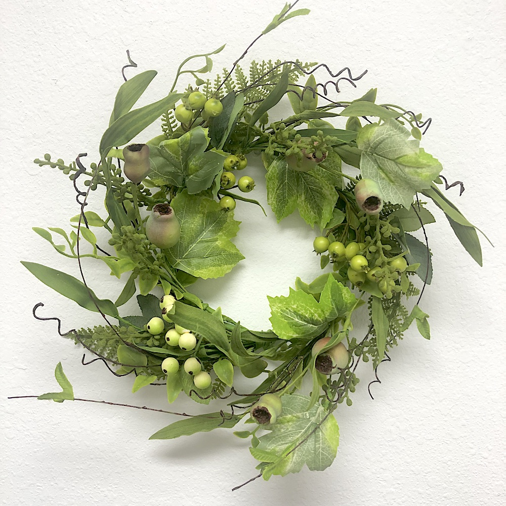 Candle Ring Foliage W/ Pods & Berries 6