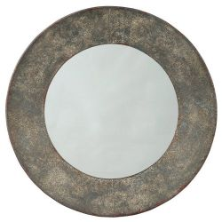 Galvanized Round Mirror