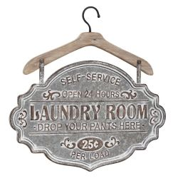 hanging laundry room sign