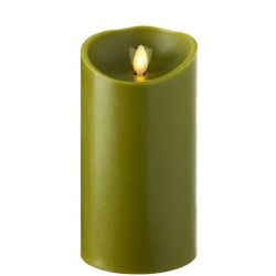 Wax Pillar Fireless Candle with Timer Sage 3.5
