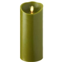 Wax Pillar Fireless Candle With Timer Sage 3