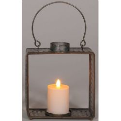 Lantern Galvanized Square