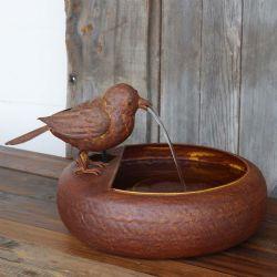 small bird fountain