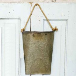 Galvanized Hanging Pocket (Small)