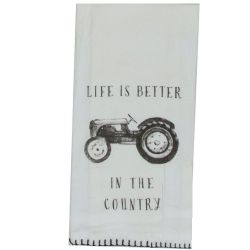 tractor tea towel