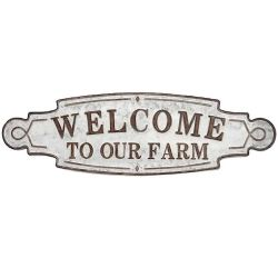welcome to our farm metal sign